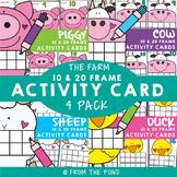 Farm Ten and Twenty Frame Activity Cards Bundle