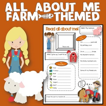 All About Me Farm Theme