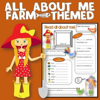 All About Me Farm Theme