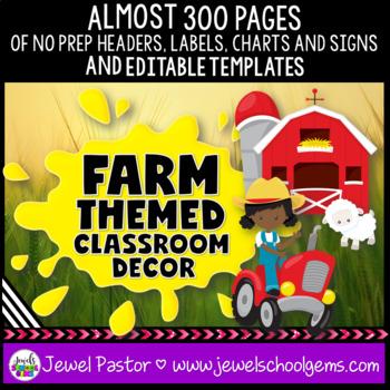 Farm Theme Classroom Decor EDITABLE (Farm Classroom Decor)