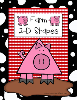 Farm Theme 2-D Shape Posters