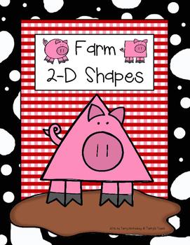 Farm Theme 2-D Shape Posters