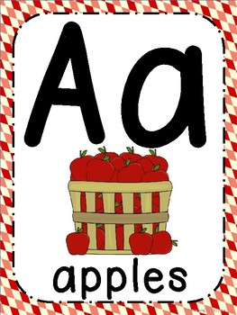 Farm Theme ABC Posters - Large, Small & Flashcards