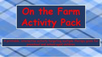 Farm Theme Activity Set