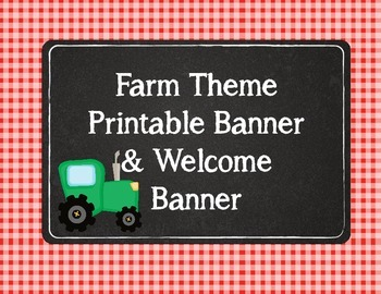 Farm Theme Banner Bunting with Welcome Banner