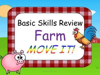Farm Theme Basic Skills Review MOVE IT!