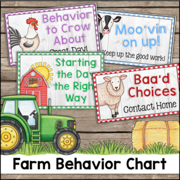 Farm Theme Behavior Clip Chart