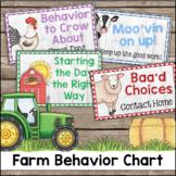 Farm Theme Behavior Clip Chart