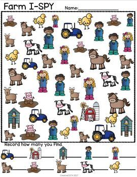 Farm Theme Differentiated Activities and Worksheets