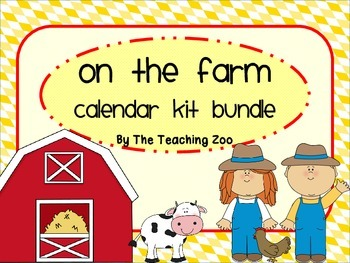 Farm Theme Calendar Kit Bundle