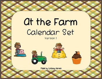 Farm Theme Calendar Set