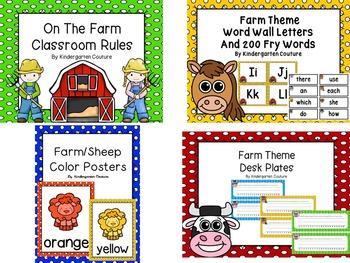 Farm Classroom Bundle