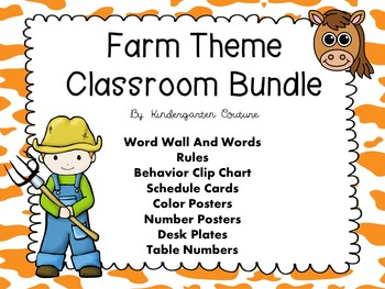 Farm Theme Classroom Bundle