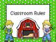 Farm Theme Classroom Rules