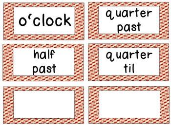 Farm Theme Clock Tags & Labels