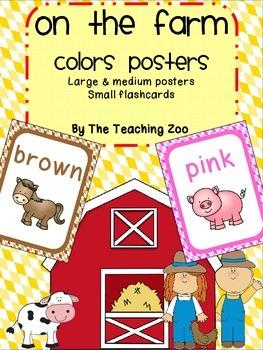 Farm Theme Color Identification Posters
