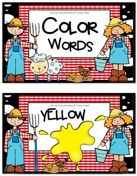Farm Theme Color Word Posters