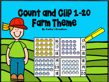 Farm Theme Count And Clip 1-20