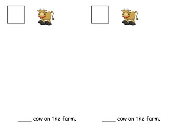 Farm Theme Counting Book