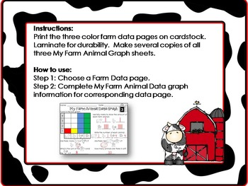 Farm Theme:  Create and Read Farm Animal Data Graphs