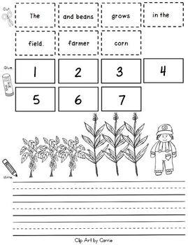 Farm Theme Cut Apart Sentences