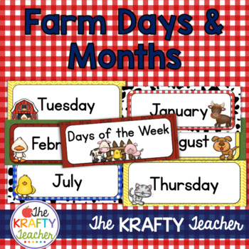 Farm Theme Days of the Week and Months of the Year, Calend