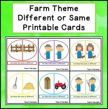 Farm Theme:  Different or Same
