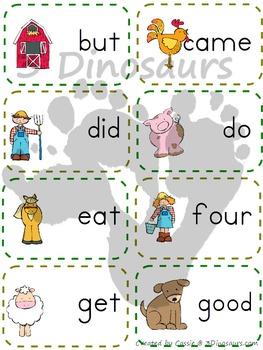 Farm Theme Dolch Primer Sight Words