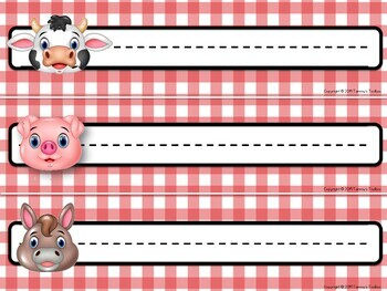Farm Theme Editable Classroom Decor