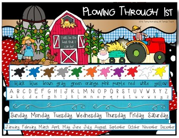 Farm Theme Folder or Table Resource Mat