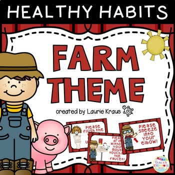 Farm Theme Healthy Habits Posters