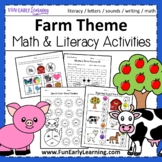 Farm Theme Math & Literacy NO PREP Worksheets & Activities