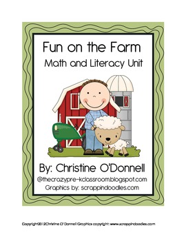 Farm Theme Math and Literacy Unit: 10 frames, I have/Who has +more