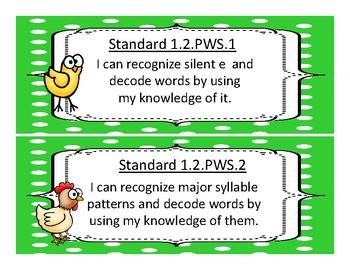 2017-2018 Oklahoma First Grade Academic Standards, Language and Math, Animals
