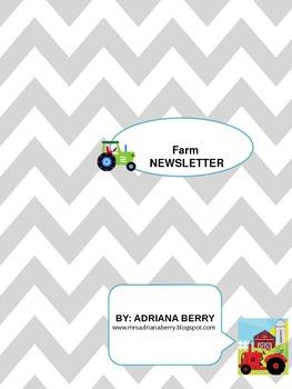Farm Theme Newsletter
