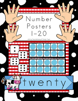 Farm Theme Number Posters 1-20