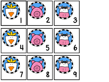 Farm Theme Calendar Numbers 1-31