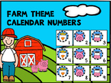 Farm Calendar Numbers 1-31