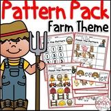Farm Theme Pattern Activities