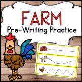 Farm Theme Pre-Writing Practice for Preschool
