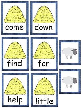 """Farm Theme Preprimer Sight Word Set, """"Baa"""" Words (set 3)"""