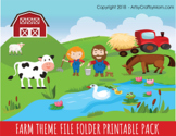 Farm Theme Printable File Folder Game