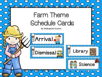 Farm Schedule Cards