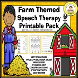 Farm Theme Speech and Language Therapy Pack