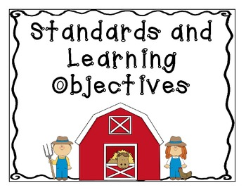 Farm Theme Standards and Objectives Posters