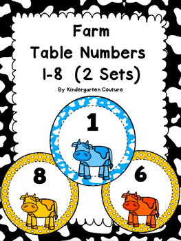 Farm Table Numbers