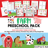 Farm Activities Preschool (color and black & white version)