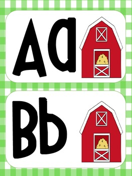 Farm Theme Word Wall & Number Posters
