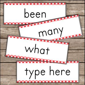 EDITABLE Word Wall with Sight Words - Farm Theme