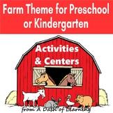 Farm Theme for Preschool and Kindergarten: Activities for